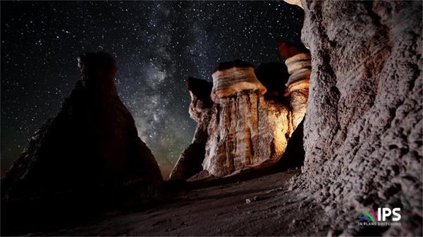 唯美壮阔美国西部天然景观 山水草木星空流星超清延时实拍
