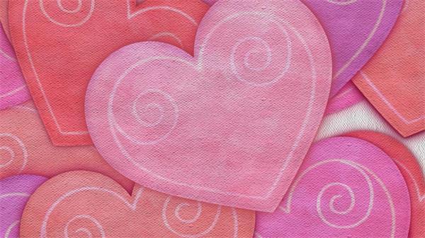 浪漫温馨爱心纸片升浮 婚庆情人节舞台背景视频素材