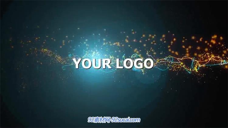 会声会影x6模板 酷炫炫光粒子流线logo特效广告宣传素材