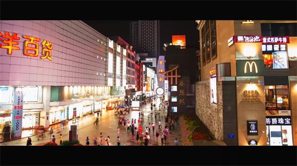 四川成都城市建筑风貌白天夜景 交通车流人流高清延时实拍