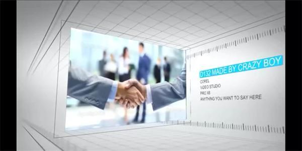 会声会影X6模板 简洁立体空间企业发展历程形象品牌宣传展示模板