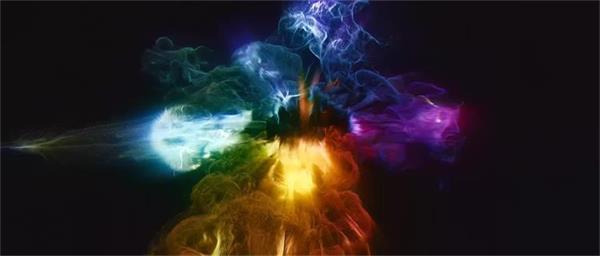 炫酷壮丽科技感多彩烟雾流光芒条LED高清配景视频素材