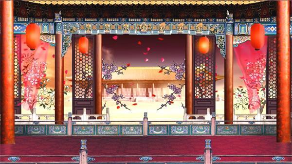 中国风戏曲戏剧舞台演出晚会 led大屏幕高清动态视频背景素材