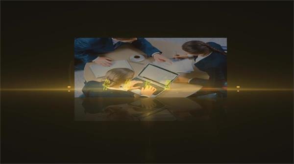 会声会影X6模板 震撼大气炫光电子相册企业抽象宣传片头模版