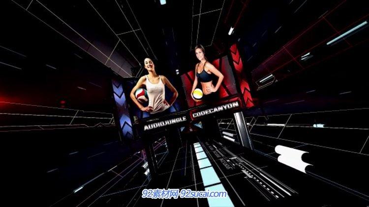 AE模板 酷炫大气3D立体体育类栏目包装模板 AE素材