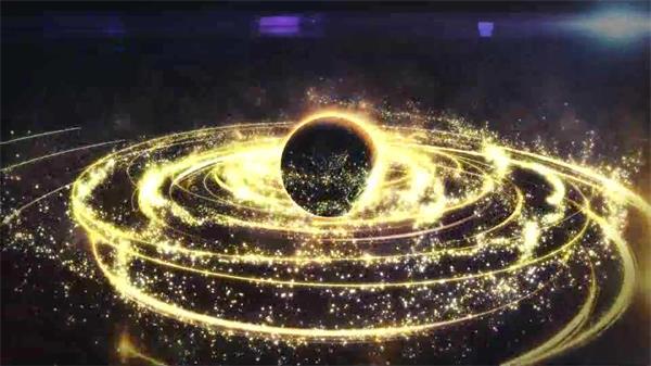 AE模板 震撼大气星空粒子流线盘绕星球旋转LOGO展现模板 AE素材