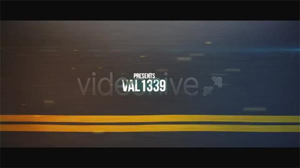 AE模板 高速公路飞驰背景字幕标题片头展示模板 AE素材