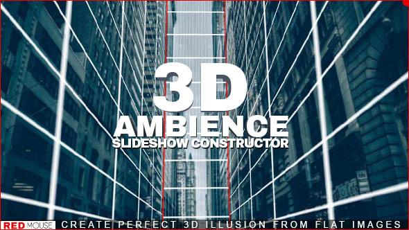 AE模板 酷炫平面二维图片转换3D立体三维图片幻灯片展示 AE素材