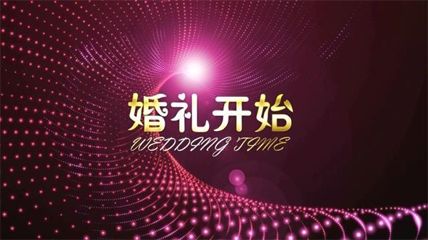 唯美浪漫彩色婚礼开场倒计时片头 大屏幕LED高清背景视频素材