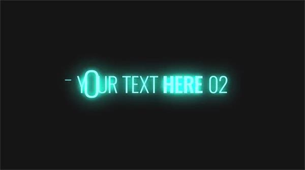 AE模板 酷炫电子故障错乱特效荧光字幕标题LOGO AE素材