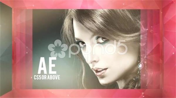 AE模板 时尚华丽闪亮耀光立体几何链状结构背景幻灯片 AE素材