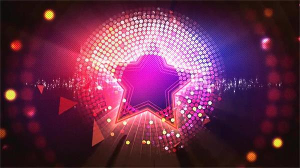 唯美梦幻闪亮星星粒子灯光舞台 大屏幕LED高清背景视频素材