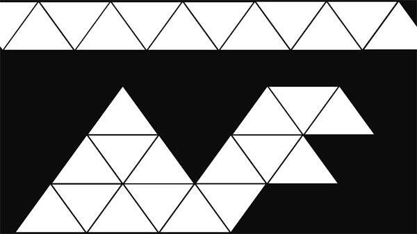 简约几何三角形黑白遮罩透明通道视频素材