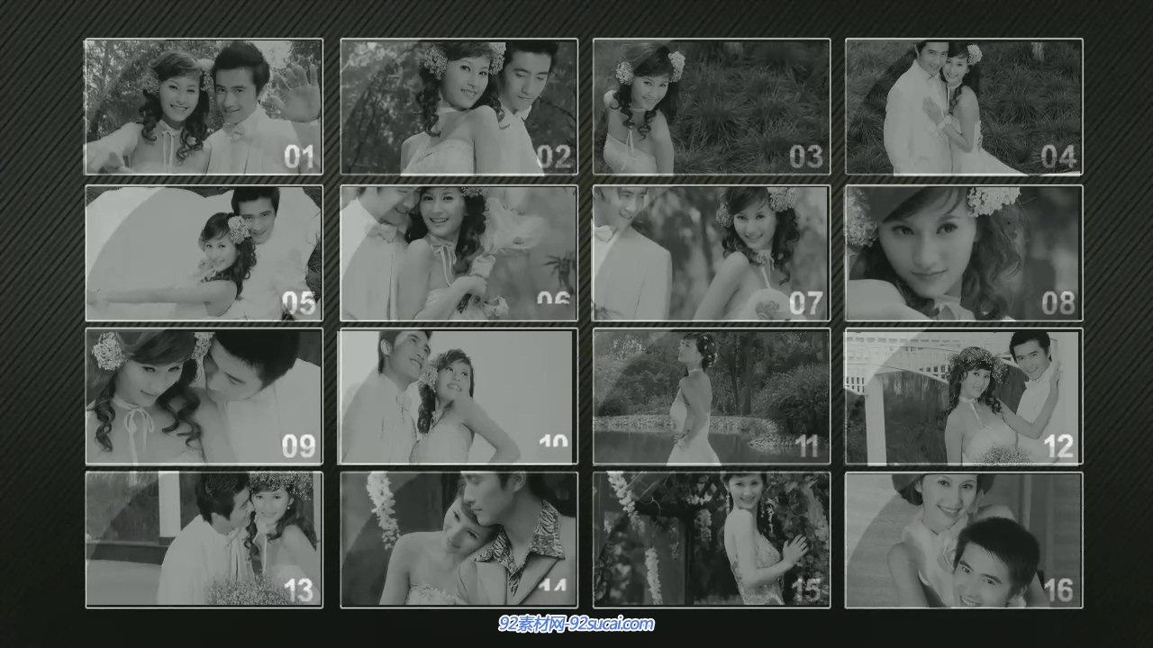 會聲會影X6模板 實用攝像機抖動效果婚禮電子相冊模板