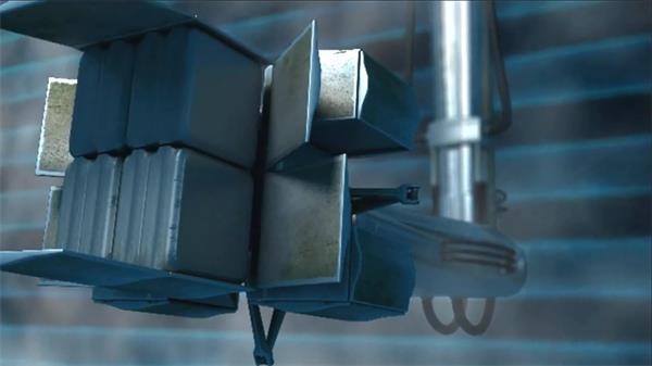 会声会影X6模板 酷炫高科技感3D立体机械臂伸展变换展示片头