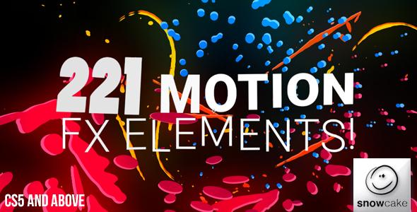 AE模板 221款华丽卡通动态特效2D动画元素包 AE素材