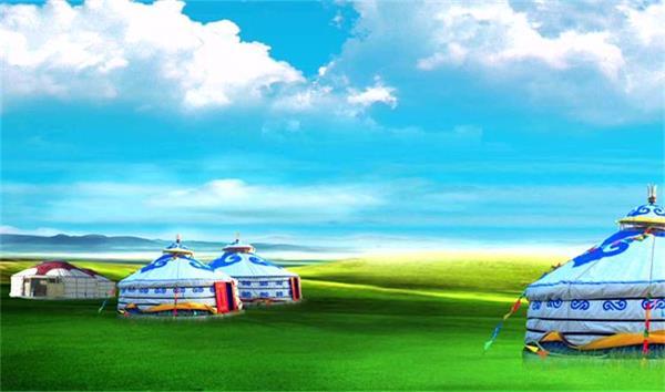 壯麗草原馬羊蒙古包牧民高清延時視頻 民族歌舞晚會舞臺背景視頻