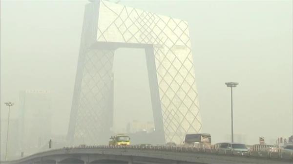 北京雾霾气候氛围净化高清实拍 情况维护宣传片视频素材
