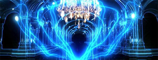 酷炫动感荧光夜光流光线条飘飞粒子 大屏幕LED高清背景视频素材