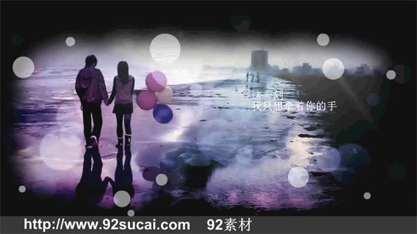 会声会影X6模板 梦幻华丽典雅中国风画廊滑动爱情纪念电子相册
