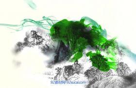 典雅中国水墨风山河长城城市功夫 大屏幕LED高清舞台背景视频素材