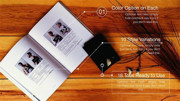 AE模板 简洁宣传发展缩放企业分布图文展示 AE素材