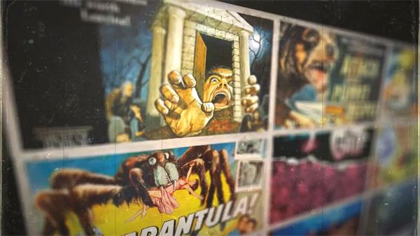 AE模板 80年代老式卷轴开场彩色漫画风电影片头 AE素材