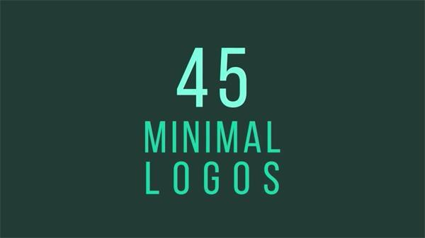 AE模板 多款简洁动感灵活独特样式企业LOGO展示片头 AE素材