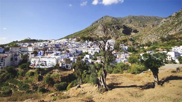 摩洛哥古城自然風光人文風情建筑風貌拍攝 摩洛哥高清延時實拍