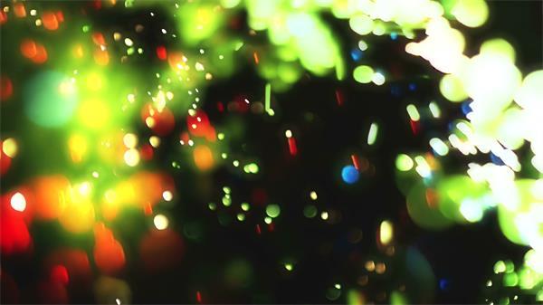 唯美炫光光辉四射多彩粒子飘洒 壮丽飘浮粒子视频素材