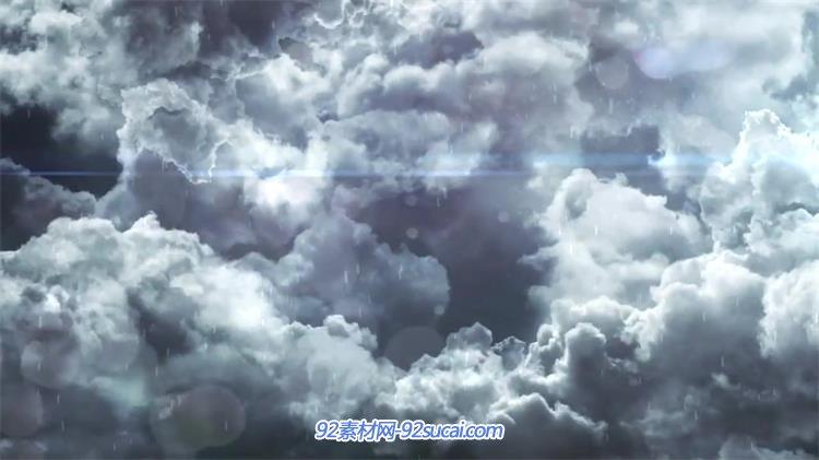 炫光雷雨交加天空云层电影云片头 ae素材