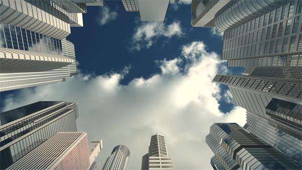 摩登大楼商业建筑企业公司房地产宣传片头 建筑大楼高清实拍