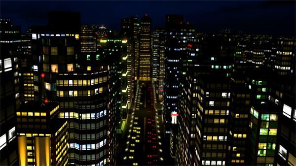 万家灯火照亮繁华大城市建筑夜景 城市建筑夜景视频素材