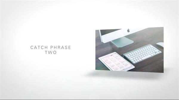 AE模板 唯美简洁百叶窗扭曲进场模版 AE素材
