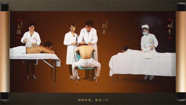 中醫院歷史宣傳片針灸把脈研究治療 中醫院形象片實拍