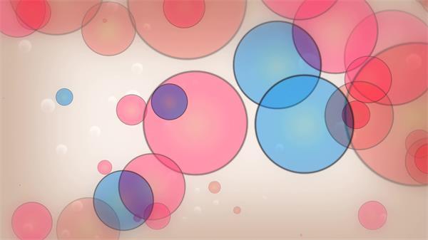 繽紛絢麗飄浮泡泡 清新彩色泡泡背景動態視頻素材