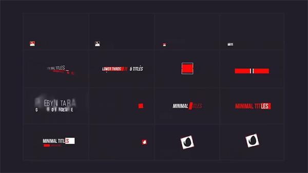 AE模板 简洁线条滑动字幕条栏目包装展示 AE素材