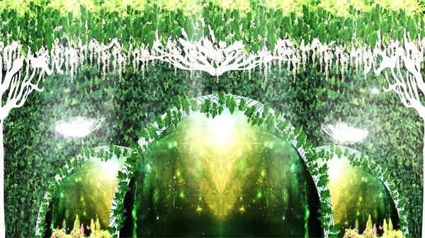 神秘花园森林主题婚礼飘浮星光飞舞蝴蝶动态视频素材