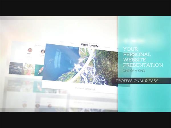 AE模板 炫酷3D立体空间旋转网站图文演示特效模版 AE素材