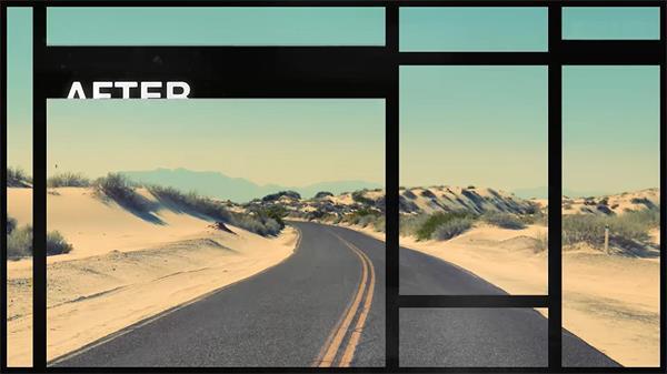 AE模板 优雅复古条形拼接分割幻灯片 AE素材