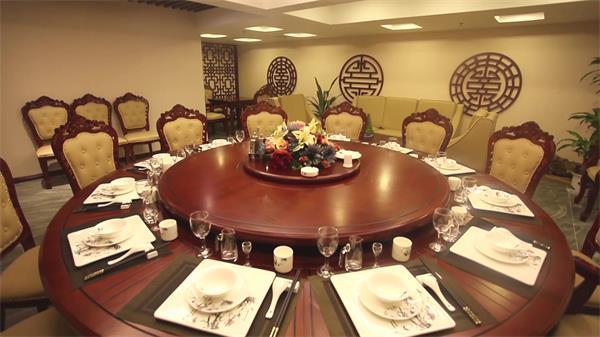 富丽堂皇鲜味生存餐馆美食包房 中式餐厅高清实拍