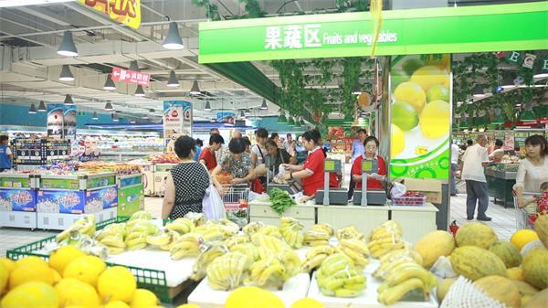 住宅小区商圈超级市场买菜购物 超市购物高清实拍