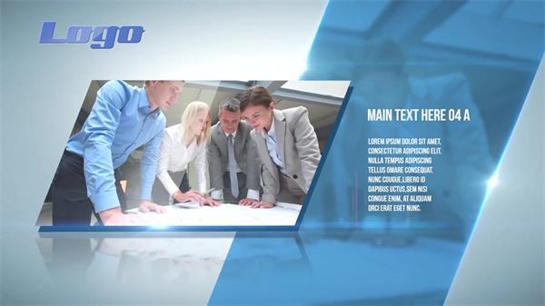 AE模板 简洁商务菱形方块现代企业文化推广模版 AE素材