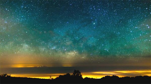 超壮观!西欧挪威山唯美星空昼夜天然风光延时高清拍摄