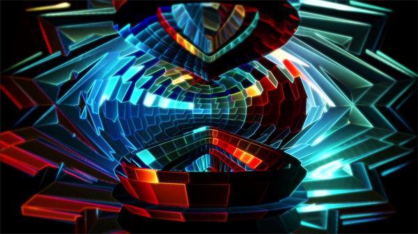 绚丽魔幻夜场半球循环旋转酒吧背景视频素材