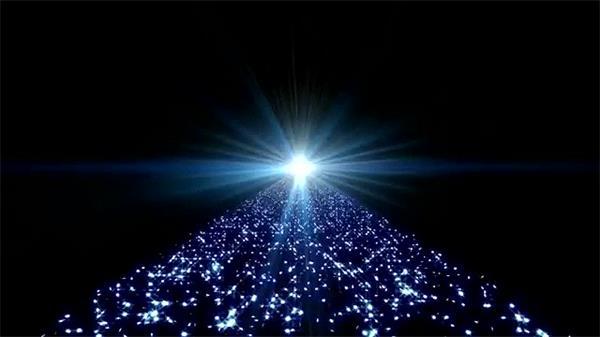 分散粒子汇聚炫光大道LED背景视频素材
