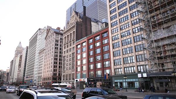 国外企业大楼建筑风貌特色 大厦建筑高清视频实拍