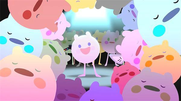 趣味卡哇伊卡通表演欢乐动画视频 卡通动画视频素材