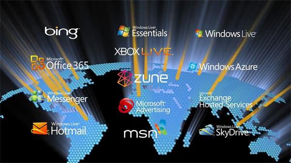Microsoft微软公司开展计划进程实拍航拍素材
