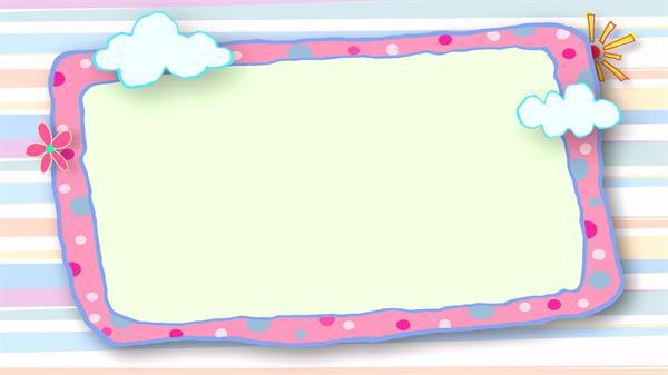 简洁可爱花朵卡通动态边框高清视频素材